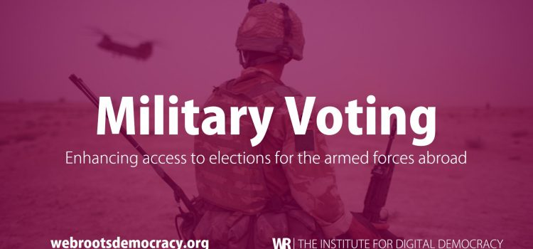 Voting technology to facilitate voting for military personnel overseas