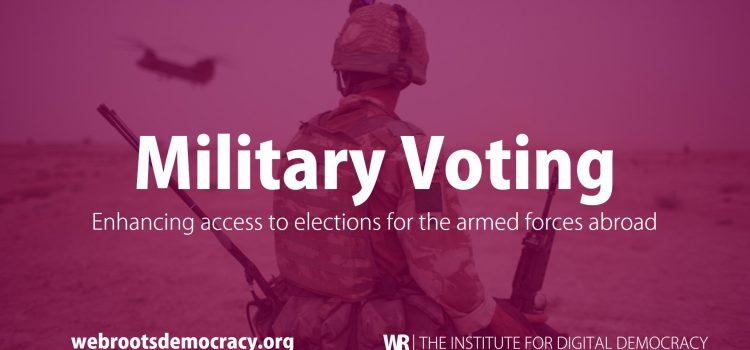 Tecnología de voto electrónico para facilitar el voto de los militares en el extranjero