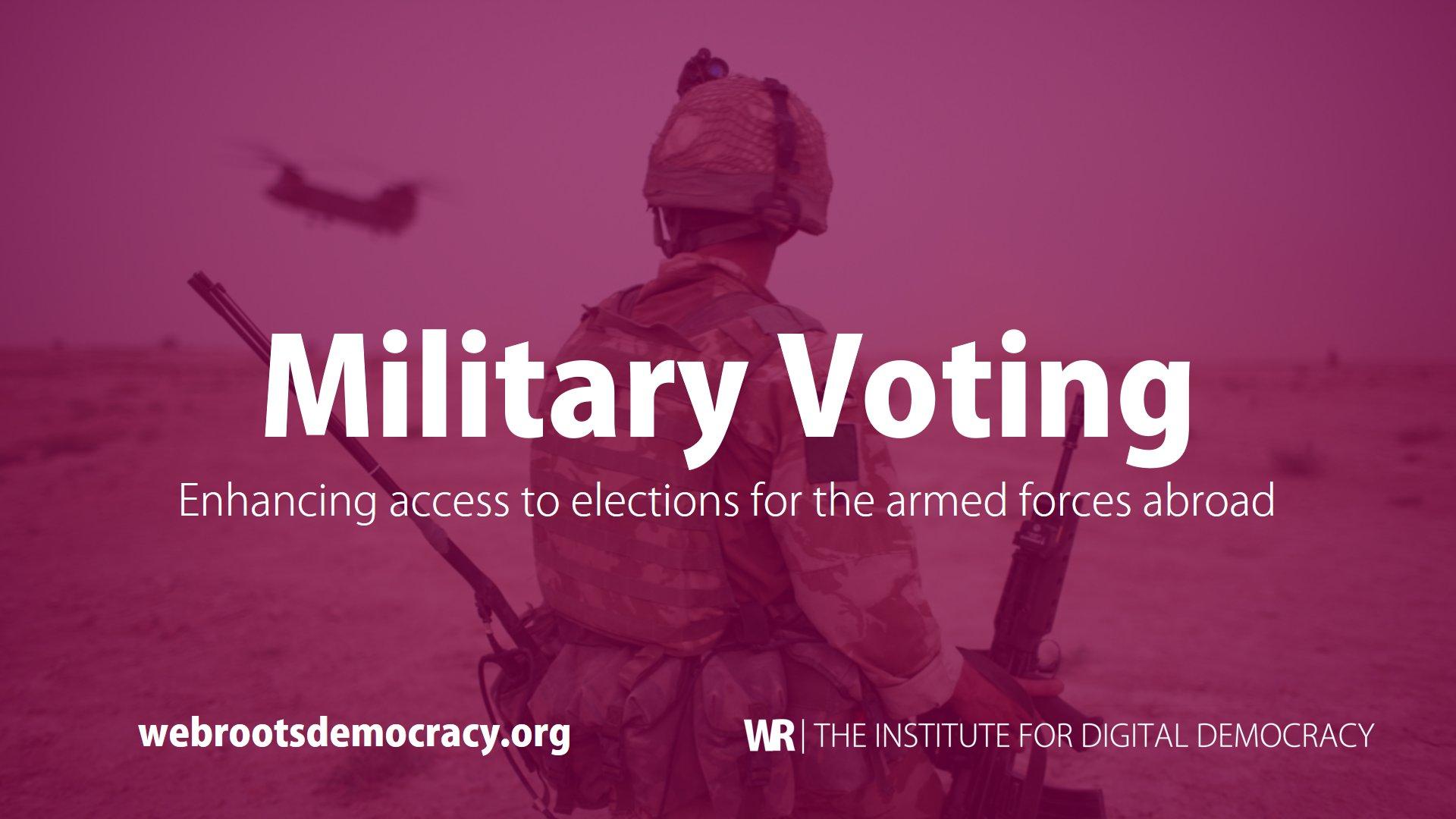 military voting - voto electrónico