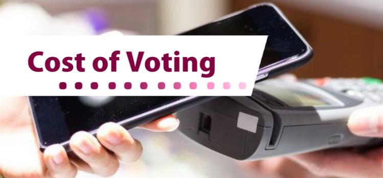 """4 razones por las que el reporte """"El costo de la votación"""" es importante"""